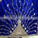2017 High Quality First Lady VIP George Fabric/Heavy Stones Beaded Georges For Wedding , Party