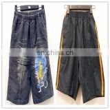 zhejiang clothes cheap used children jean pants and shorts kids slacks