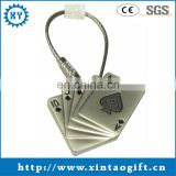 Specialized hot sale metal poker keychain with bead ring