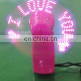 led digital message fan/program led message fan/flashing led message fan