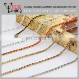 Factory main product !SS6 2MM glass beads white rhinestone chain 10Meters one roll