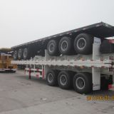 40ft tri axle flatbed container semi trailer with container locks