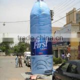custom high quality giaant inflatable advertising drink bottle