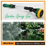 (10145) Garden long nozzle high pressure water portable aluminum water 8-pattern hose spray gun