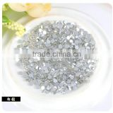 High quality SS3 round crystal rhinestone with hot fix and flat silver back for dress jewelry decoration