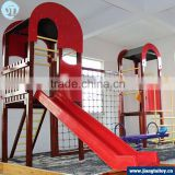 Stocks JT-12103B wooden outdoor playground climbing with slide