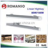 80w 100w led linear light for indoor warehouse/factory using 1.2m 80w linear led high bay