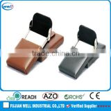 office high quality leather business card holder magnetic