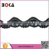 Cheap black cotton/polyester lace trim