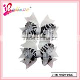 The best quality flower hair accessories fancy novelty solid animal print strip ribbon bow hairgrips (DW--0036)
