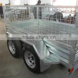 10*5 hot-dipped galvanized tandem box trailer
