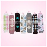 Diamond print baby warm cotton sock hot sale leg warmers in stock