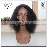 2016 popular natural kinky curly lace front wig for black women