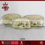 Metal Serving Tray Vintage Tin Trays Metal Home Decorative Chinese Factory Cheap Food Tray