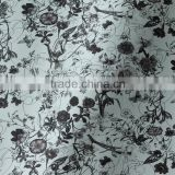 cross embossing with Beautifully printed flower pattern pvc rexine leather fabric for bags Guangzhou leather manufacturer