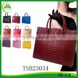 2015 Hot Sell Fashion Lady Leather Handbag Lady Shoulder Tote Bag Women Crocodile Handbag