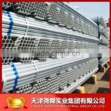 Prepainted zinc round steel tubes / Metal building material GI steel pipes for greenhouse