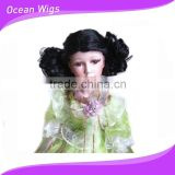 fashion style remy human hair doll wigs, rooting doll hair, doll hair wigs