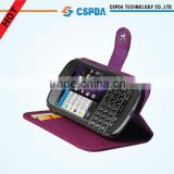 2013 Newly design protective leather wallet case for BlackBerry Q10
