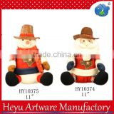 2015 Christmas doll cowboy hat craft doll Santa Claus doll ornament for Christmas ornament