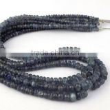 "1 Strand Natural Rare Genuine Sapphire 3-5mm Faceted Rondelle Drilled 14"" Long Jewelry and Necklace Making Beads"