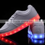 Hot Selling Men Women 7 Color LED Luminous Sneaker Light Up Lace Unisex Casual Sportswear Led Shoes