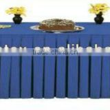 100% polyester table skirting, party polyester table skirting for banquet and weddings
