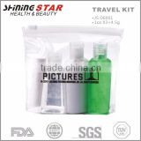 JS-06001 Summer kit ecofriendly pvc bag with hand sanitizer,sunscreen lotion, Aloe vera gel and lip balm