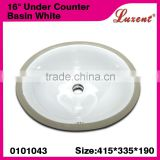 "Wholesale Hot Sales Bathroom Ceramic Enlongated 16""Under Economic Washing Basin White"