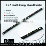 men titanium germanium magnetic bracelet with negative ion titanium germanium magnetic bracelet