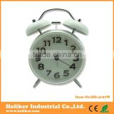 lovely metal twin bell alarm desk clock with logo