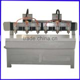 High precision 3 axis ball screw transmission multiheads plywood cnc router for package industry