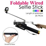 Hot new products for 2015 Wholesale Supreme Mini Foldable Cable Selfie Stick Wired Selfie Stick,Monopod Selfie-stick
