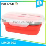 Colorful cheap portable silicone material bento japanese box