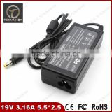 Good quality 19V 3.16A 5.5*2.5mm 60W Laptop AC Power Adapter Charger for Acer DELL 110L 120L Fujitsu HP 2100 2103 laptop