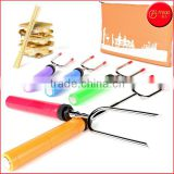 Hot Sale Premium Marshmallow Roasting Sticks Smores Skewers Hot Dog Fork 34 Inch Rotating BBQ Telescoping sticks