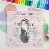 2015 Wholesale new arrive hand-painted secret garden series dream girl adult coloring books