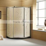 3 sided shower enclosure with art glass WOMA Y722