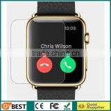 New arrived 0.33mm 2.5D Tempered glass screen protector for Apple watch 100% hight clear screen protector for Apple watch