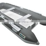 2 men plastic inflatable sailing drifting boat