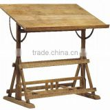 Solid reclaimed old wood gorgeous drafting table,vintage look adjustable art and drafting table