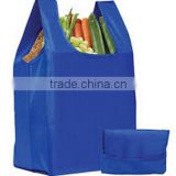 polyester cute pig foldable shopping bag