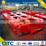 China gooseneck multi axis steering air suspension modular semi trailer