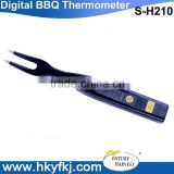 Digital bbq meat thermometer fork temperature and taste tester