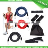 Upper body building resistance band arm exercises set for fitness