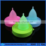 Hot sale FDA approved silicone menstrual cup and folding cup