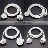 1.8M US/EU/AU/UK Plug Extension Cable Cord for MacBook Pro Air Charger Adapter
