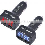 LCD Digital 3.1A Dual USB Car Charger Adapter For iPhone 5 6 6 plus For Samsung Galaxy S4 S5