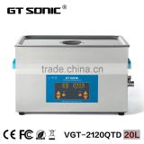 GT SONIC VGT-2120QTD Professional Ultrasonic Cleaning machine 20L for tattoo tools cleaning