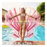 amazing pink inflatable seashell pool float mattress